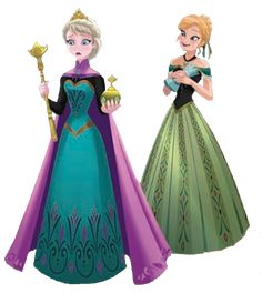 Anna and Elsa - frozen Photo