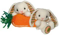 Mesmerizing Crochet an Amigurumi Rabbit Ideas. Lovely Crochet an Amigurumi Rabbit Ideas. Easter Crochet, Crochet Bunny, Crochet For Kids, Crochet Animals, Crochet Crafts, Crochet Flowers, Knit Crochet, Free Crochet, Crochet Amigurumi