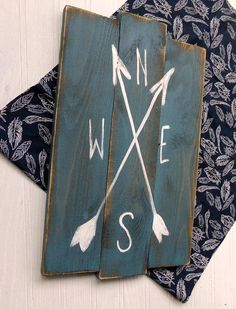Rustic, wood compass sign for your nursery decor, nautical bathroom or even out by the pool! See our color options to make this a one of a kind piece for you! This measures approx 11x18 staggered wood design, and comes ready to hang.
