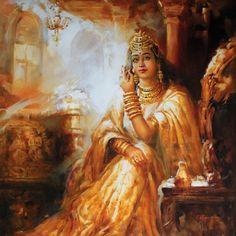 K N Ramachandran's Life of Color » Paintings and Art Gallery » Dream