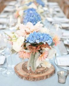 Sky Blue Wedding Accents