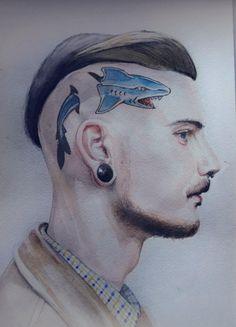 Man with Shark Tattoo by MurTXazI on DeviantArt