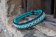 Adjustable dog collar patern, Paracord collar