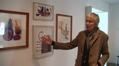 Rose, Roger Hilton's widow, talks about the paintings at the Newlyn Art Gallery centenary exhibition.