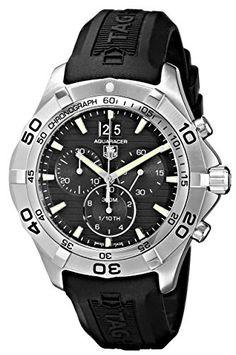 TAG Heuer Mens CAF101EFT8011 Aquaracer Grande Black Dial Watch *** Click image to review more details.