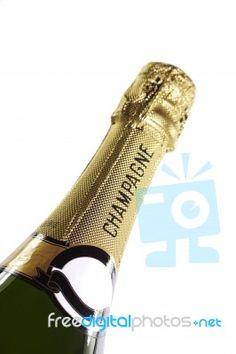 Champagne Bottle Stock Photo