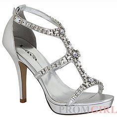 Lava Aidan Silver Ankle Strap Open Toe 3 Sandals Stappy Heels Shoes IS Sparkly Wedding Shoes, Sparkly Shoes, Bridal Shoes, Fancy Shoes, Homecoming Heels, Prom Heels, Shoes Heels, Homecoming 2014, Dress Shoes