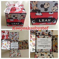 Disney mundo anuncio estalla caja Disneyland por Keepsakesbystef