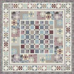 ~free pattern ~ Towne Square by Wendy Sheppard.  Churn dash border