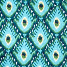 Bold Ikat Fabric in Aqua