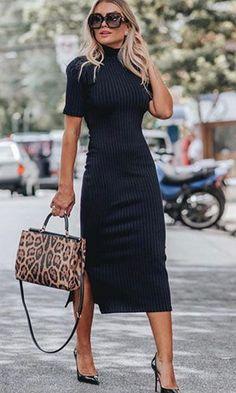Vestido Midi: Descubra looks perfeitos para arrasar nas festas e no dia a dia! Stylish Work Outfits, Business Casual Outfits, Professional Outfits, Casual Fall Outfits, Classy Outfits, Summer Office Outfits, Business Professional Attire, Office Outfits Women, Business Dresses