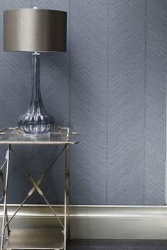 Porter's Paints Collection :: 'Quill' wallpaper in colourway Ebony