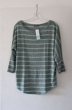 Market & Spruce Corinna Striped Dolman Top in light green and grey // Stitch Fix