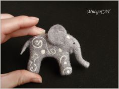 Adorable needle felted elephant....