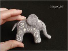 Adorable needle felted elephant....