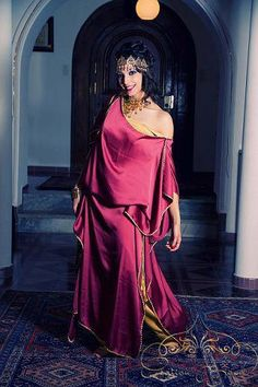 Traditional Dress from Aures region - Traditional Fashion, Traditional Dresses, Moroccan Caftan, Gypsy Dresses, Gypsy Style, African Women, Satin Dresses, The Dress, Alternative Fashion