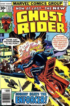 Ghost Rider #22, February 1977, Pencils: Jack Kirby; John Romita, Inks:Al Milgrom; John Romita
