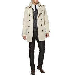 BURBERRY LONDON  BIRTTON SHORT DOUBLE BREASTED TRENCH COAT  $497