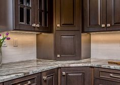 This kitchen remodel was designed by David from our Braintree kitchen showroom. Dark Brown Kitchen Cabinets, Brown Kitchens, New Kitchen Cabinets, Kitchen Cabinet Design, Espresso Cabinet Kitchen, Kitchen Tips, Kitchen Ideas, Espresso Cabinets, Maple Cabinets