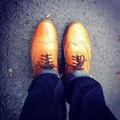 Grenson Dylan Leather Wing Tip Shoe, its all about wings right now.