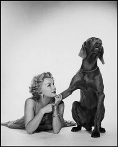 Photo by Philippe Halsman - Eva Gabor, 1953. ☀
