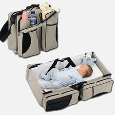 Baby Travel – A Bag That Turns Into a baby bed. Now that is what I call a travel bag!