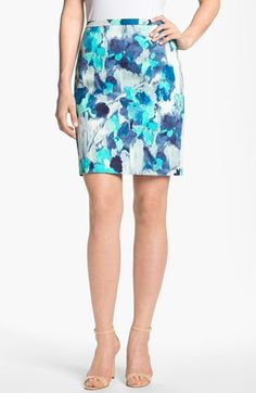 T Tahari 'Zander' Skirt (Petite) (Online Only) available at #Nordstrom