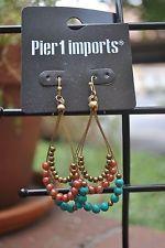 Pier 1 Imports Wire Beaded Multi-Color Hook Earrings, $12