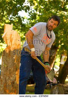 A Carved Wood Statue Of Folk Hero Big Joe Eraw In Mattawa Ontario The