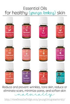 Reduce and prevent wrinkles, tighten and tone skin, and minimize scarring ... ALL NATURALLY with some of these Essential Oils! So much better than Botox or a Face Lift!