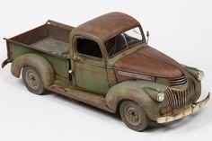 Revells 1:24 scale model '41 Chevy Pickup by John Tolcher. #automotive #rust
