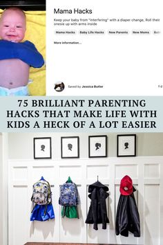 Here are 75 genius parenting hacks to make your life a whole lot easier: