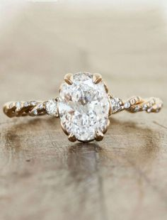 oval engagement ring, Ring: Ken & Dana Design