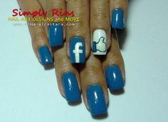 Facebook Nails | AmazingNailArt.org