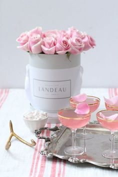 Just in time for Valentine's Day ... I am sharing with you the prettiest looking drinks I ever did see...I call them Lady Rose!!! These are PERECT to sip on with yours truly or add…