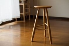 basic and simple wooden stool, Japanese ash 「よこぐもスツール」 Herman Miller Aeron Chair, Wooden Stools, Bar Stools, Simple, Chairs, Furniture, Japanese, Home Decor, Unique