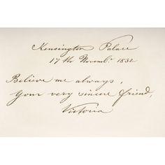 Victoria Maria Louisa Duchess Of Kent And Strathearn 1786 To 1861 Mother Of Queen Victoria Hand Writing Sample Canvas Art - Ken Welsh Design Pics Hand Writing, British History, Queen Victoria, Welsh, Victorian Era, Canvas Art, Walmart, Design, Products