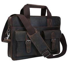 be10d0e33499 Amazon.com  Genuine Leather Bags Classic Laptop Briefcase Attache Shoulder  Handbag Messenger Bag Tote Brief Case  Computers   Accessories