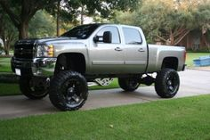 the love of Chevy trucks!For the love of Chevy trucks! Lifted Chevy Trucks, Gmc Trucks, Diesel Trucks, Cool Trucks, Pickup Trucks, Jacked Up Chevy, Pick Up, E90 Bmw, Future Trucks