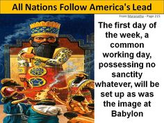 This is the next step America takes and it will be the final fall of Babylon as world follows...the the end comes...Do not partake of her earthly lust of the flesh...