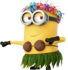 Hawaiian Minion - convert to trunk decor