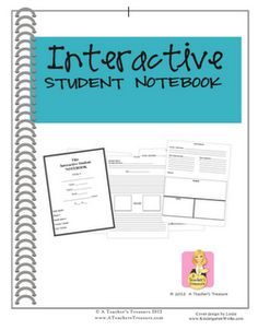 A Teacher's Treasure Interactive Student Notebook packet with over 100 templates that can be used across the curriculum in grades I'll be glad I pinned this next school year! Interactive Student Notebooks, Science Notebooks, Math Notebooks, Reading Notebooks, Teacher Tools, Teacher Resources, Teacher Stuff, Learn Espanol, Too Cool For School