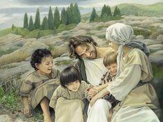 """Let the Children Come"" - painting by Liz LemonSwindle"