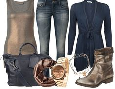 GOLDIES - Casual Outfit - stylefruits.nl