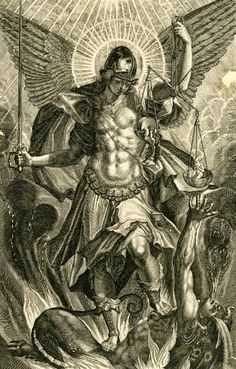 Raphael Sadeler II (after Pieter de Witte), 'St Michael in Armour Standing on the Dragon', 1604 Catholic Art, Religious Art, St. Michael Tattoo, Archangel Tattoo, Ange Demon, Biblical Art, Desenho Tattoo, Archangel Michael, Angels And Demons