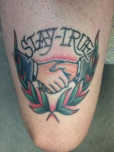 """Stay True"" fully healed by Matthew McGrath at Taboo Tattoo in Dallas TX"