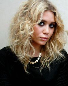 Ashley Olsen curly long bob