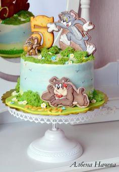 Tom and Jerry Birthday cake by My sweet hobby - Albena Nacheva
