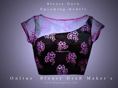 Amazing Sewing Patterns Clone Your Clothes Ideas. Enchanting Sewing Patterns Clone Your Clothes Ideas. Netted Blouse Designs, Simple Blouse Designs, Stylish Blouse Design, Blouse Neck Designs, Designer Blouse Patterns, Blouses, Youtube Style, Blouse Tutorial, Salwar Pants