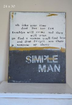 of a simple man